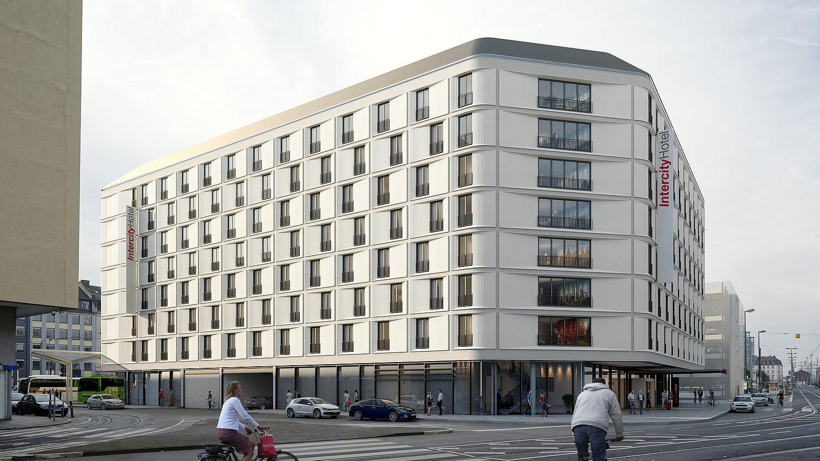 Hotel am Hauptbahnhof Frankfurt am Main. copyright: Schneider + Schumacher
